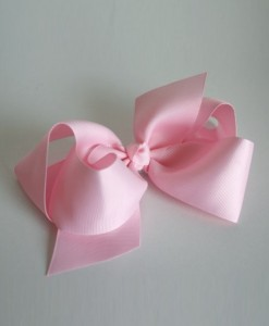 baby pink large bow