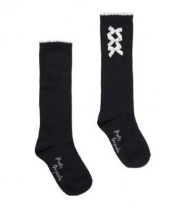 navy high knee socks