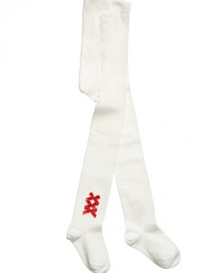 pretty originals off white tights with red satin bows