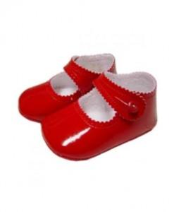red pram shoes