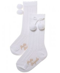 PO WHITE POMPOM SOCKS