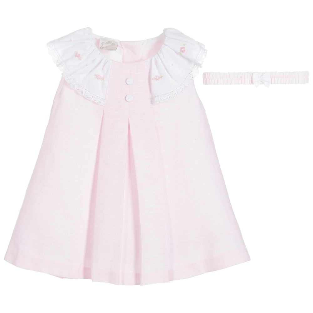 Baby Pink Piece Dress Set Boutique Clothing
