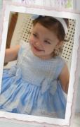 Puffball Dress Blue